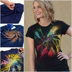 DIY Galaxy Twist Bleach Tie Dye Shirt
