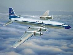 """The Bristol Type 175 Britannia was a British medium-to-long-range airliner built by the Bristol Aeroplane Company in 1952 with four Turbo-Prop Bristol Engines to fly across the British Empire it was also known as """"The Whispering Giant"""""""