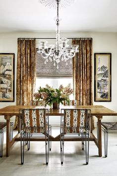 33 Gorgeous Contemporary Dining Room Decor Ideas - The dining room is a place where tradition and old fashioned values still live in our world of text messages, Blackberries and HDTV. Wicker Pendant Light, White Washed Floors, Brown Interior, Next At Home, Elle Decor, Small Apartments, A Boutique, Contemporary Furniture, Decoration