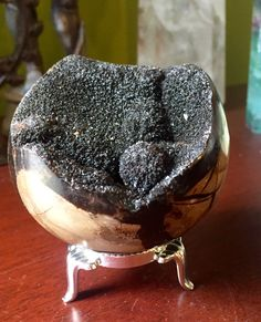A personal favorite from my Etsy shop https://www.etsy.com/listing/479025971/gorgeous-black-septarian-crystal-ball