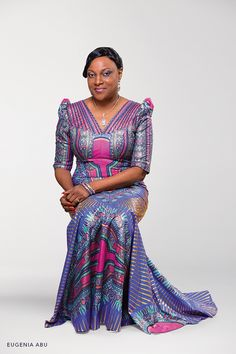 Ambassador of style: Eugenia Abu in Vlisco's iconic Angelina design