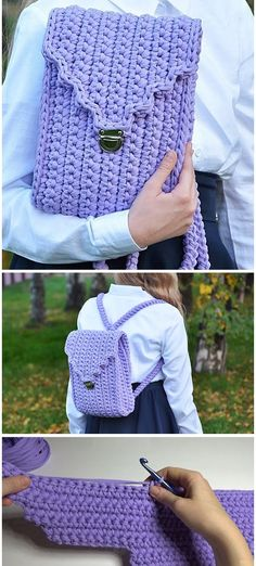 Crochet Elegant Bag Tutorial – Crochet World Crochet Backpack, Bag Crochet, Crochet Shell Stitch, Crochet Handbags, Crochet Purses, Crochet Yarn, Mochila Crochet, Crochet Purse Patterns, Knitting Patterns