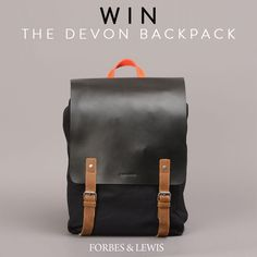 The Devon backpack is a mid sized backpack inspired by my grandfathers' British military canvas backpack. - Waterproof canvas and real leather mix - Multip Black Backpack, Leather Backpack, Rocker Chic, Best Bags, Canvas Backpack, Canvas Leather, Devon, Real Leather, Competition