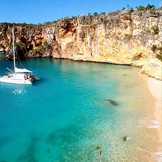 Anchored in this very spot, jumped off the boat, swam to shore and snorkeled all around those cliffs on Anguilla.