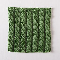 Spiral Columns Facecloth is created by twisting stitches; no cable needle is required. The pattern is easy to read and quick to knit. It can easily be resized to fit your needs.