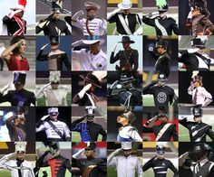 drum corps salutes... especially the last row, first picture... My fav corps