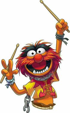 Drum Logo Galleries For Kids Native American Muppet Babies, Cartoon Cartoon, Cartoon Kunst, Das Tier Muppets, Cardio Drumming, Les Muppets, Animal Muppet, Drum Tattoo, Gretsch Drums