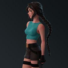 Lara Croft – Stylized by stefanie_boehm Tomb Raider Cosplay, Tomb Raider Lara Croft, Lara Croft 2, Anime Sexy, Mononoke Cosplay, Clothing Sketches, Princess Mononoke, Anime Art Girl, Girl Cartoon