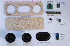 THIS IS A PRE ORDER LISTING! KITS WILL BE DESPATCHED AROUND THE 17TH OF OCTOBER :)  Speaker kit for the newly designed 10w Bluetooth 4.0 portable speaker! A fun, simple and practical weekend project, with a serious punch! This speaker kit includes all the parts needed, except the battery and side panels for the enclosure. The front and back plates are included. Whats included: -5W Drivers (x2) -Passive Radiator (x1) -Amplifier+BT module (x1) -Buttons (x5) -Switch (x1) -Rubber feet (x4)…