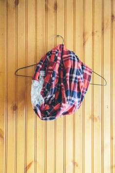 DIY flannel scarf with step by step photo instructions!