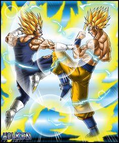 Super Goku vs Vegeta