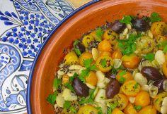 Herbed yellow cherry tomato, white lima bean and black quinoa medley recipe on Food52.com