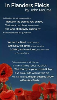 Remembrance Day – In Flanders Fields poem by John McCrae . Remembrance Day Quotes, Remembrance Sunday, Anzac Day Quotes, Remembrance Day Activities, Memorial Day Quotes, I Am Canadian, Canadian Things, Canadian History, American History