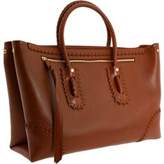 Alexander McQueen - tan Folk medium tote
