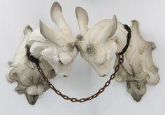 Animal Body, Human Space- Beth Cavener Sculptures #sculpture #art #cavener