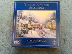1000 Piece Jigsaw Puzzle THOMAS KINKADE Painter of Light  - VILLAGE CHRISTMAS