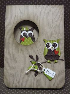 owl in a card. lovely!