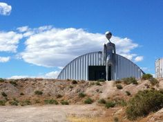 The extraterrestrial museum off the Extraterrestrial Highway on the way to Area 51.