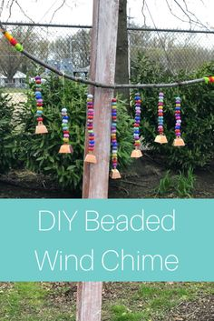 This beautiful DIY wind chime, which can be made with a few craft supplies you probably have at home, can be a lovely gift for Mother's Day. Diy Crafts For Gifts, Upcycled Crafts, Homemade Crafts, Wind Charm, Wind Chimes Craft, Craft Stash, Hanging Towels, Diy Garden Decor, Garden Art