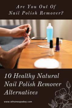 These natural nail polish remover substitutes include my best DIY healthy recipes and natural chemical free products that work wonders. Natural Nail Polish, Natural Nails, Natural Skin Care, Natural Tan, Natural Living, Natural Health, Beauty Care, Diy Beauty, Beauty Tips