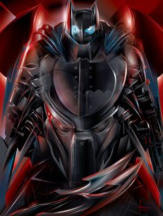 Knight Hunt - Predator vs. Dark Knight by Orlando Arocena