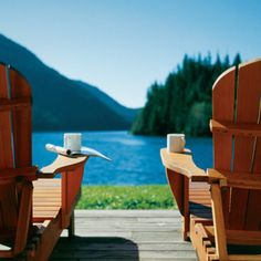 Morning coffee on the lake.....maybe someday it will look like that