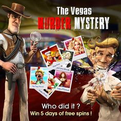The Vegas Murder Mystery now playing at BETJOY #Casino! Solve the Mystery, tell us who did it and you could win 5 days of Free Spins! Each day we will give you an a clue to who commited the wicked crime, plus it's free to join and win:  1. Like and Share the BETJOYCasino Facebook page 2. Follow the clues and decide who did it 3. Vote in the poll!  You've got till the 11th to place your vote and get your entry into the free spins prize draw!   #promotion #freespins #murdermystery #VegasMu