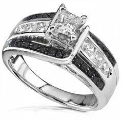 Black And White Diamond Engagement Rings For Women