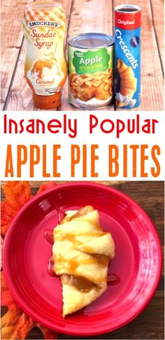 Apple Pie Recipe Easy These Mini Crescent Roll Bites With Caramel Are One Of My Favorite Summer Desserts For A Party Winter Desserts, Desserts For A Crowd, Köstliche Desserts, Delicious Desserts, Easy Desserts For Thanksgiving, Thanksgiving Desserts Easy, Easy Summer Desserts, Apple Pie Recipe Easy, Easy Pie Recipes
