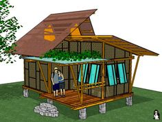 traditional bamboo guesthouse