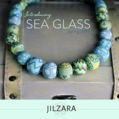 Check out JILZARAH's SEA GLASS COLLECTION http://jilzarah.com/shop/collections/sea-glass/ $46.99 handmade #claybeads by designer Jill Manzara