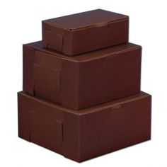 dark brown stickered pastry/pie/cake boxes for take out