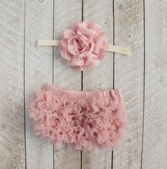 Baby Girl Ruffle Bottom Bloomer & Headband Set in Mauve - Newborn Photo Set - Infant Bloomers - Diaper Cover - Baby Gift - by Couture Flower by coutureflower on Etsy https://www.etsy.com/listing/116533560/baby-girl-ruffle-bottom-bloomer-headband