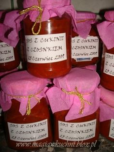 SOS Z CUKINII NA ZIMĘ Canning Recipes, Preserves, Projects To Try, Spices, Food And Drink, Drinks, Bottle, Cooking, Polish