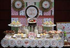 Birthday Dessert Table   Celebrate} Sew N Love Dessert Table