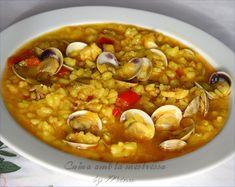 Cuina amb la mestressa: Arroz caldoso con chirlas (rosellonas) y bacalao...
