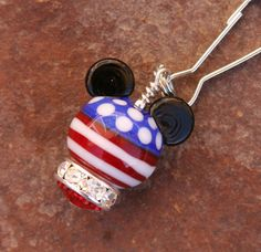 Red White Blue Mickey Mouse Style Magical Zipper by chuckhljal, $25.00