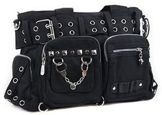 Gothic Messenger Bag | Black | Gothic shoulder Bag | College / Travel / Leisure bag | Laptop Bag | Hard Metal | Rock | DBG2660 Fashion Bags http://www.amazon.co.uk/dp/B00GO1PESW/ref=cm_sw_r_pi_dp_2HA1wb0EP69Y1
