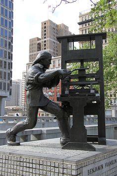 benjamin franklin statue Philadelphia