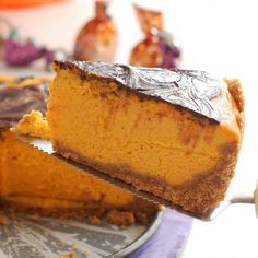 Wonderful pumpkin cheesecake, spiked with some chocolate (the ingredient that makes everything better)