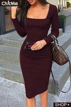 Women's Fashion Vestidos Bodycon Online Shopping – Chic Me Elegantes Outfit, Work Attire, Work Outfits, Sexy Work Outfit, Chic Outfits, Fall Outfits, Office Attire, Classy Outfits, Trendy Outfits