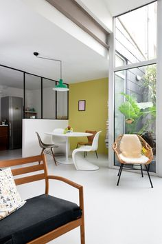 Yellow-Green Accent Wall in French Home | 10 Favorite Accent Walls
