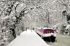 snowy canal