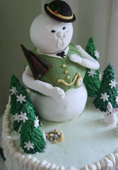 Sam the Snowman Cake from Rudolph movie.
