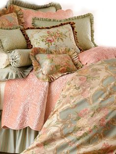 gorgeous bedlinen, in my favorite colors