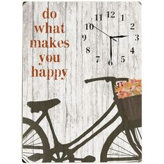 Clock! Do what you love, love what you do. ♥♥