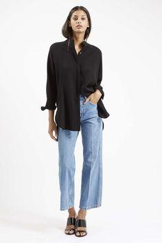 MOTO Wide Leg Cropped Jeans - Topshop USA