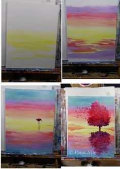 Oil painting inspiration ideas oil painting for beginners step by step inspirational best beginner painting ideas . Beginner Painting On Canvas, Step By Step Painting, Watercolor Beginner, Easy Watercolor, Watercolour, Drawing Step, Drawing Ideas, Painting Inspiration, Art Inspo