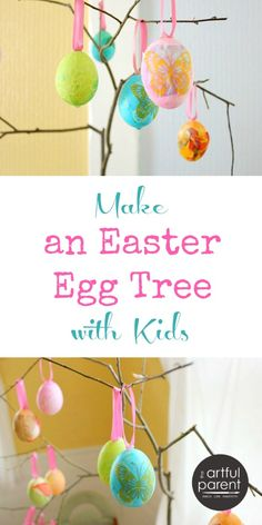 A DIY Easter Egg Tree