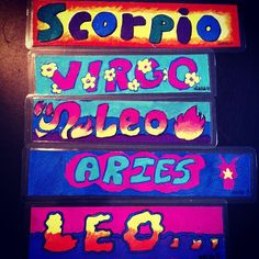 Bookmark with your star sign  #leo #aries #virgo #scorpio #starsign #bookmark #paint #painted #color Bookmark with your star sign  #leo #aries #virgo #scorpio #starsign #bookmark #paint #painted #color
